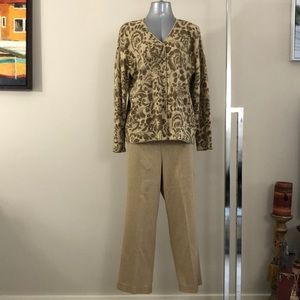 Alfred Dunner set size 14 pant & Large sweater